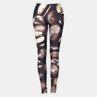 Miniatur roasted coffee beans texture acrfn Leggings, Live Heroes