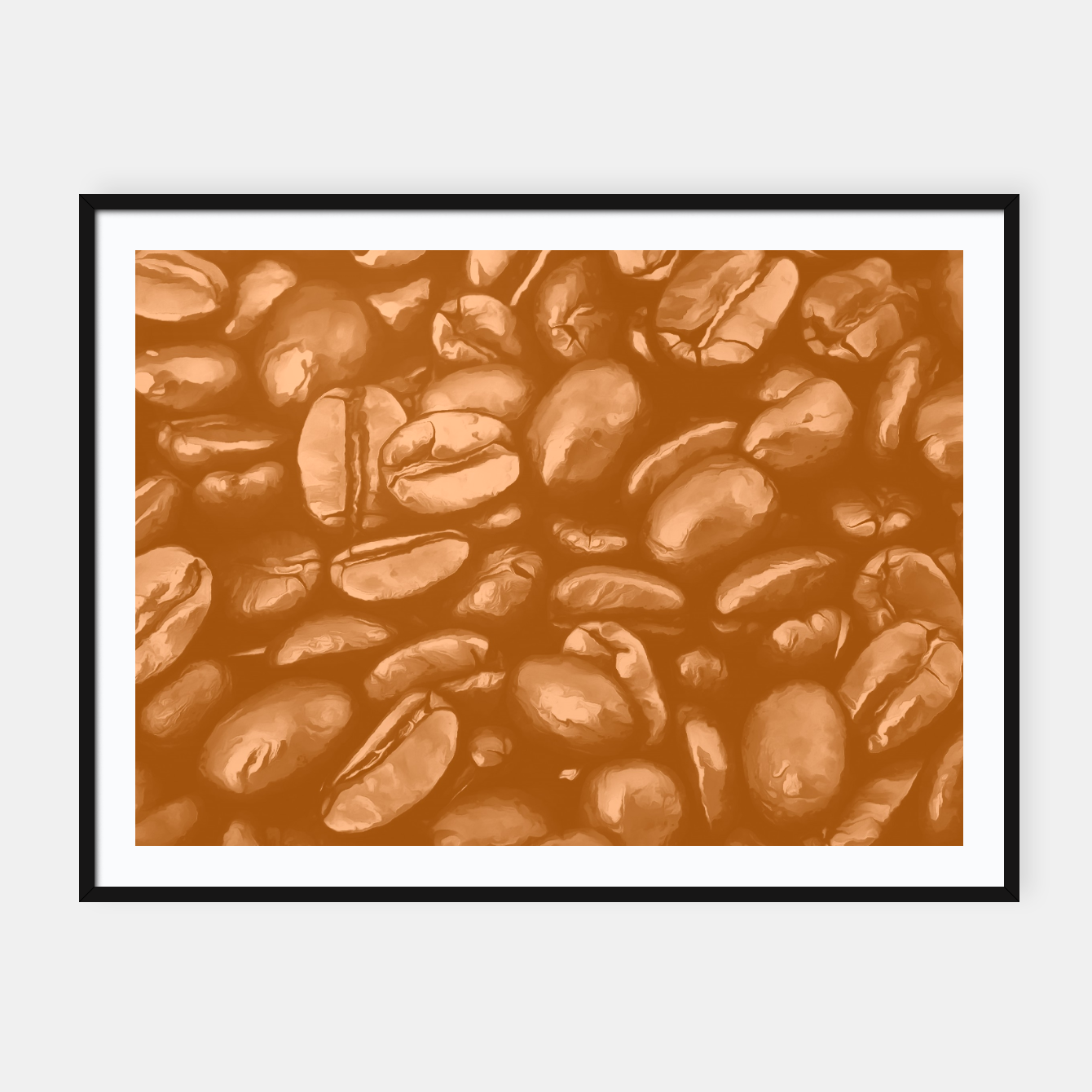 Image de roasted coffee beans texture acrcb Framed poster - Live Heroes