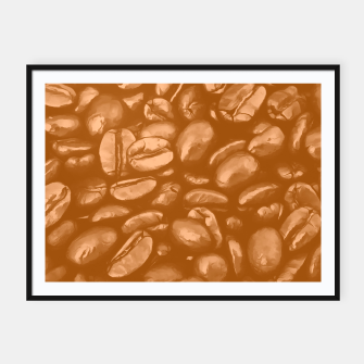 Thumbnail image of roasted coffee beans texture acrcb Framed poster, Live Heroes