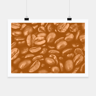Thumbnail image of roasted coffee beans texture acrcb Poster, Live Heroes