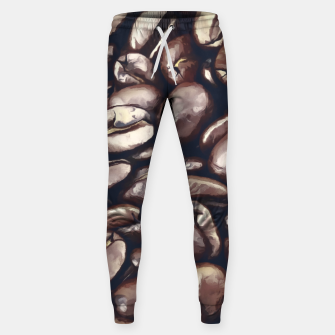 Miniatur roasted coffee beans texture acrfn Sweatpants, Live Heroes