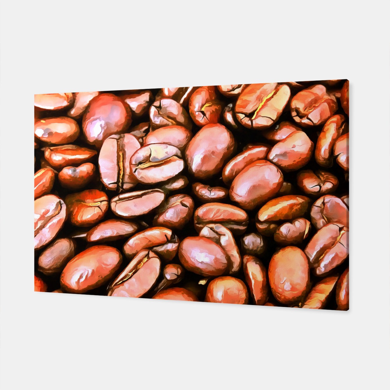 Image of roasted coffee beans texture acrsat Canvas - Live Heroes