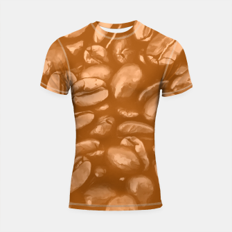 roasted coffee beans texture acrcb Shortsleeve rashguard miniature