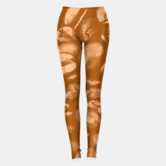 Miniatur roasted coffee beans texture acrcb Leggings, Live Heroes