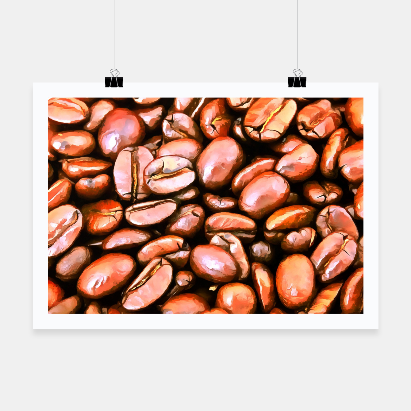 Image de roasted coffee beans texture acrsat Poster - Live Heroes