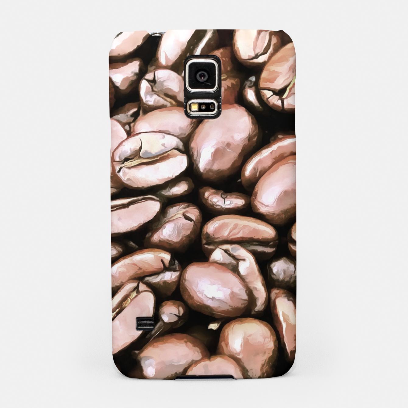 Image of roasted coffee beans texture acrstd Samsung Case - Live Heroes