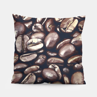 Miniatur roasted coffee beans texture acrfn Pillow, Live Heroes