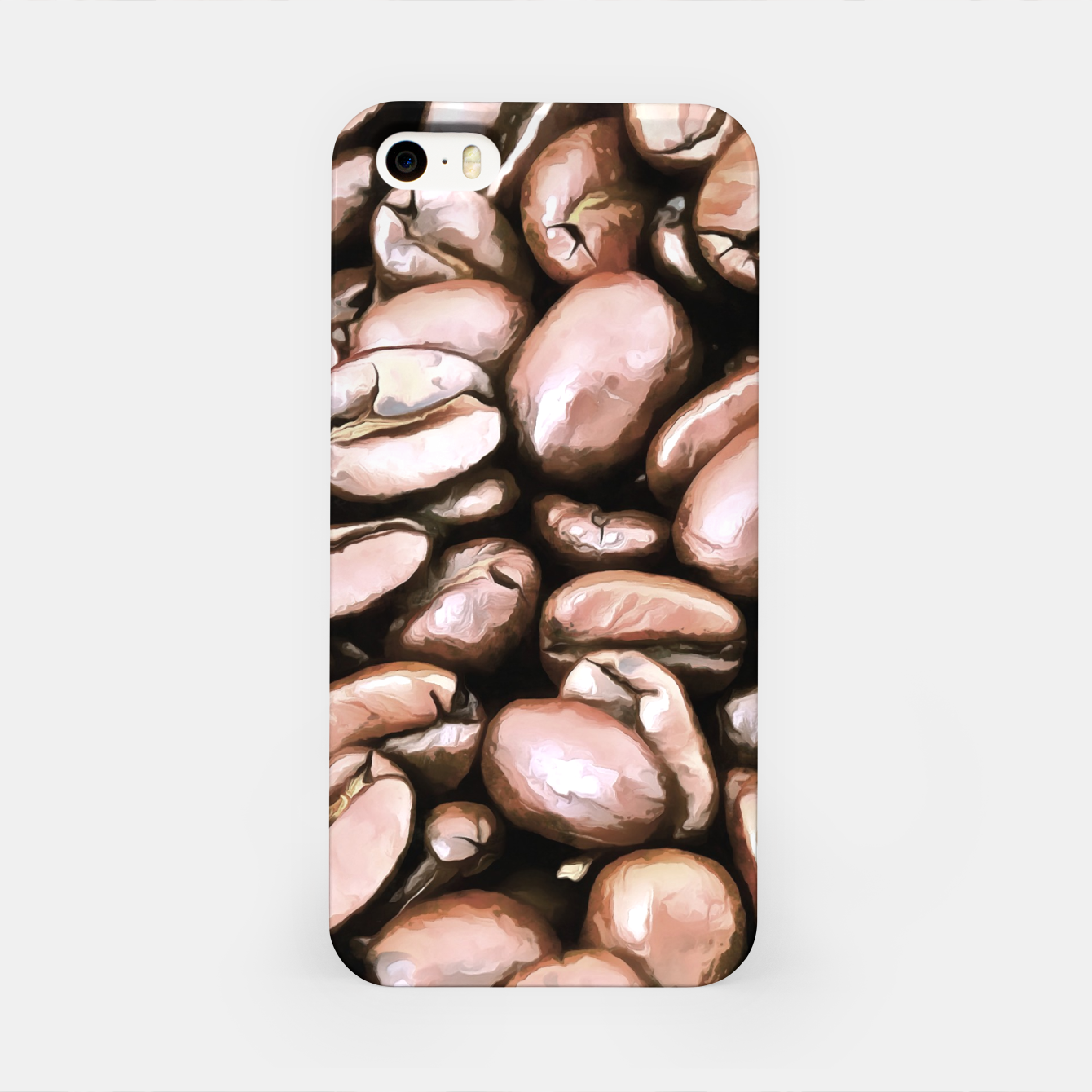 Image of roasted coffee beans texture acrstd iPhone Case - Live Heroes