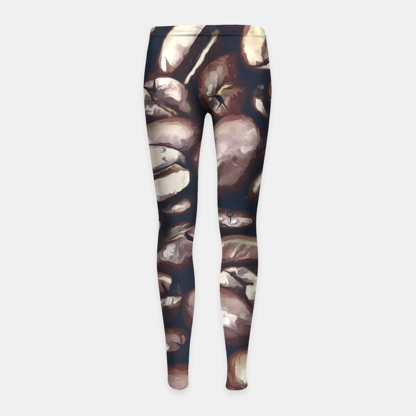 Image de roasted coffee beans texture acrfn Girl's leggings - Live Heroes
