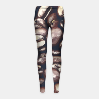 roasted coffee beans texture acrfn Girl's leggings miniature