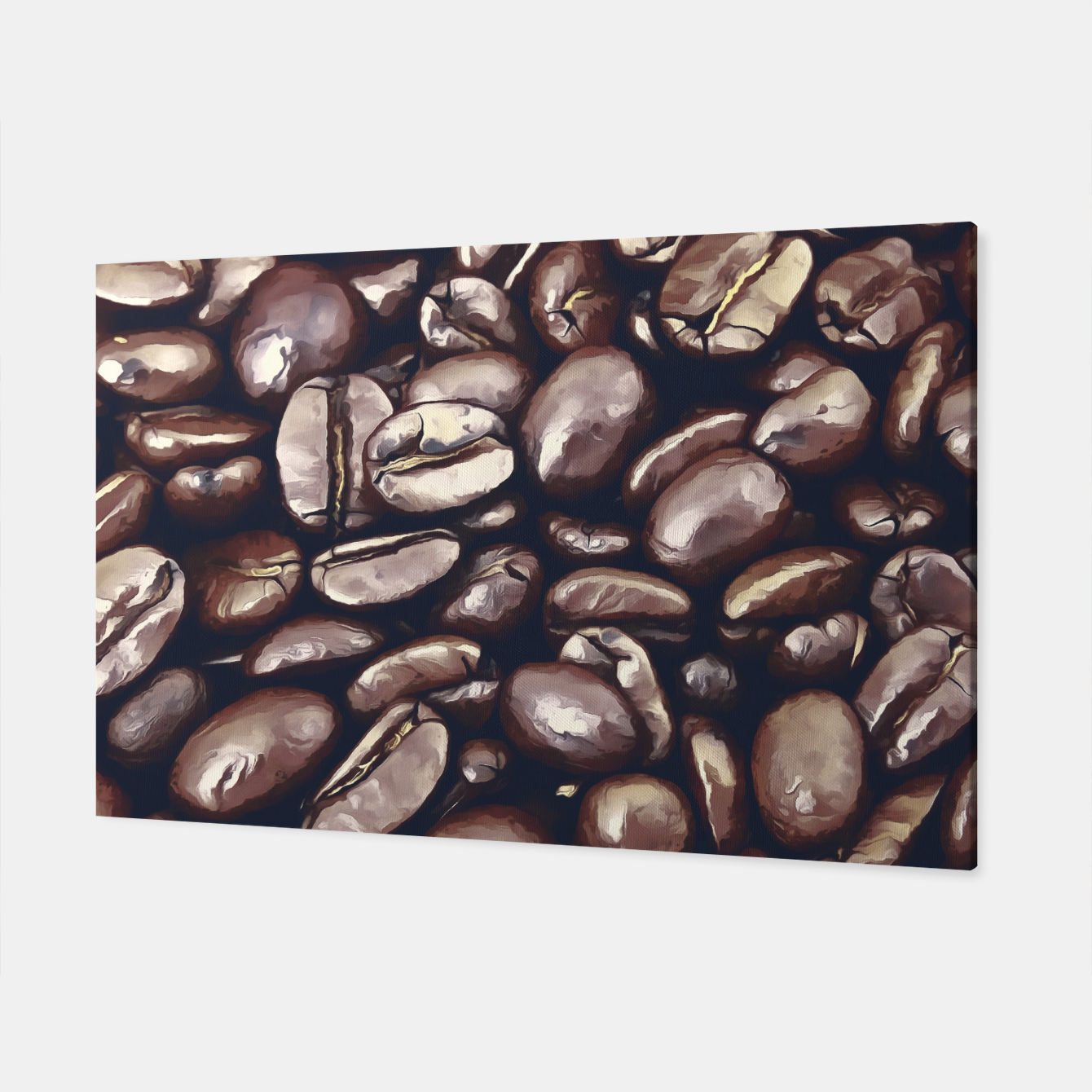 Image of roasted coffee beans texture acrfn Canvas - Live Heroes