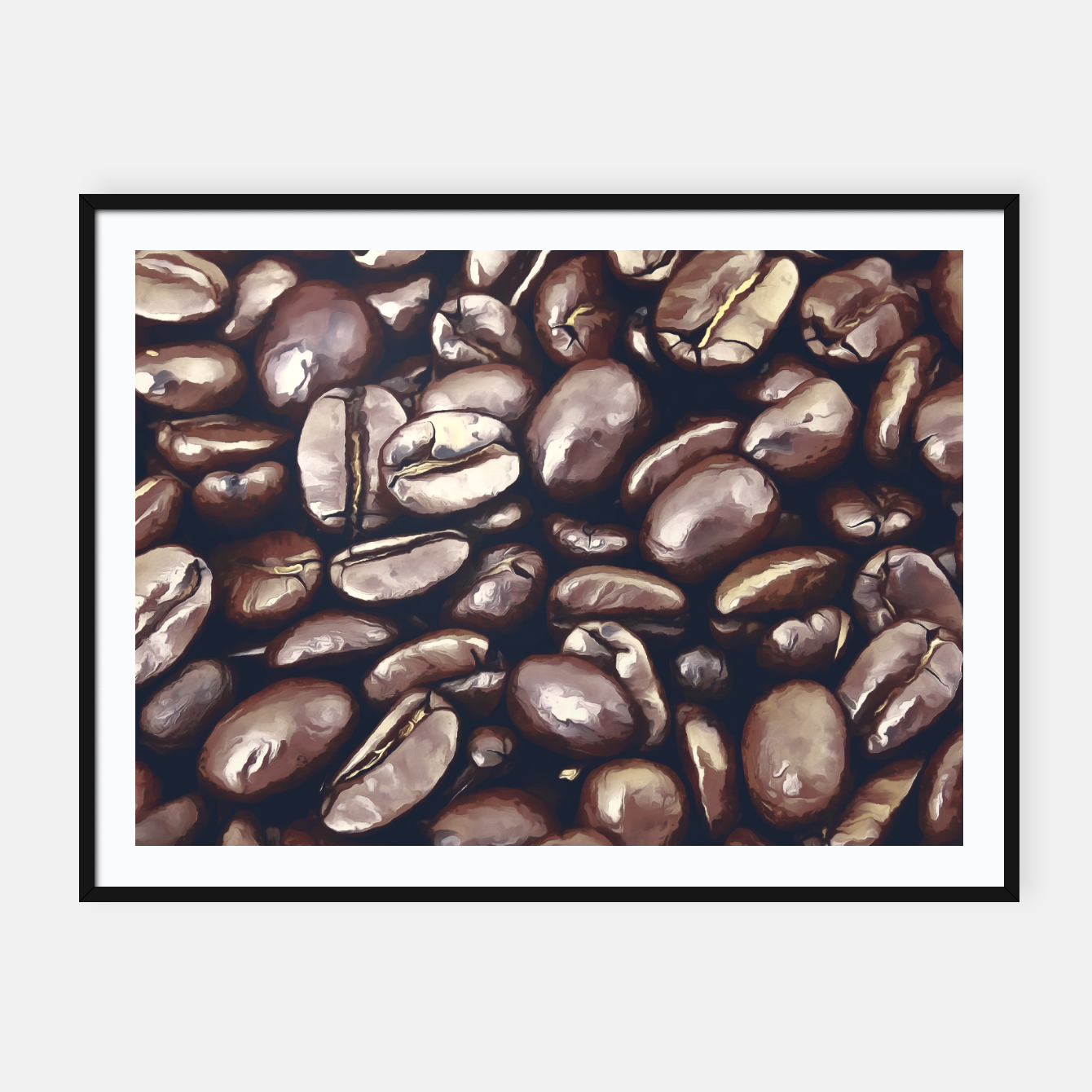 Image of roasted coffee beans texture acrfn Framed poster - Live Heroes
