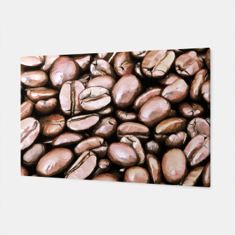 Miniatur roasted coffee beans texture acrstd Canvas, Live Heroes