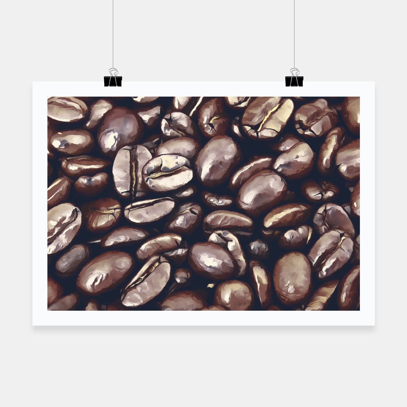 Image of roasted coffee beans texture acrfn Poster - Live Heroes
