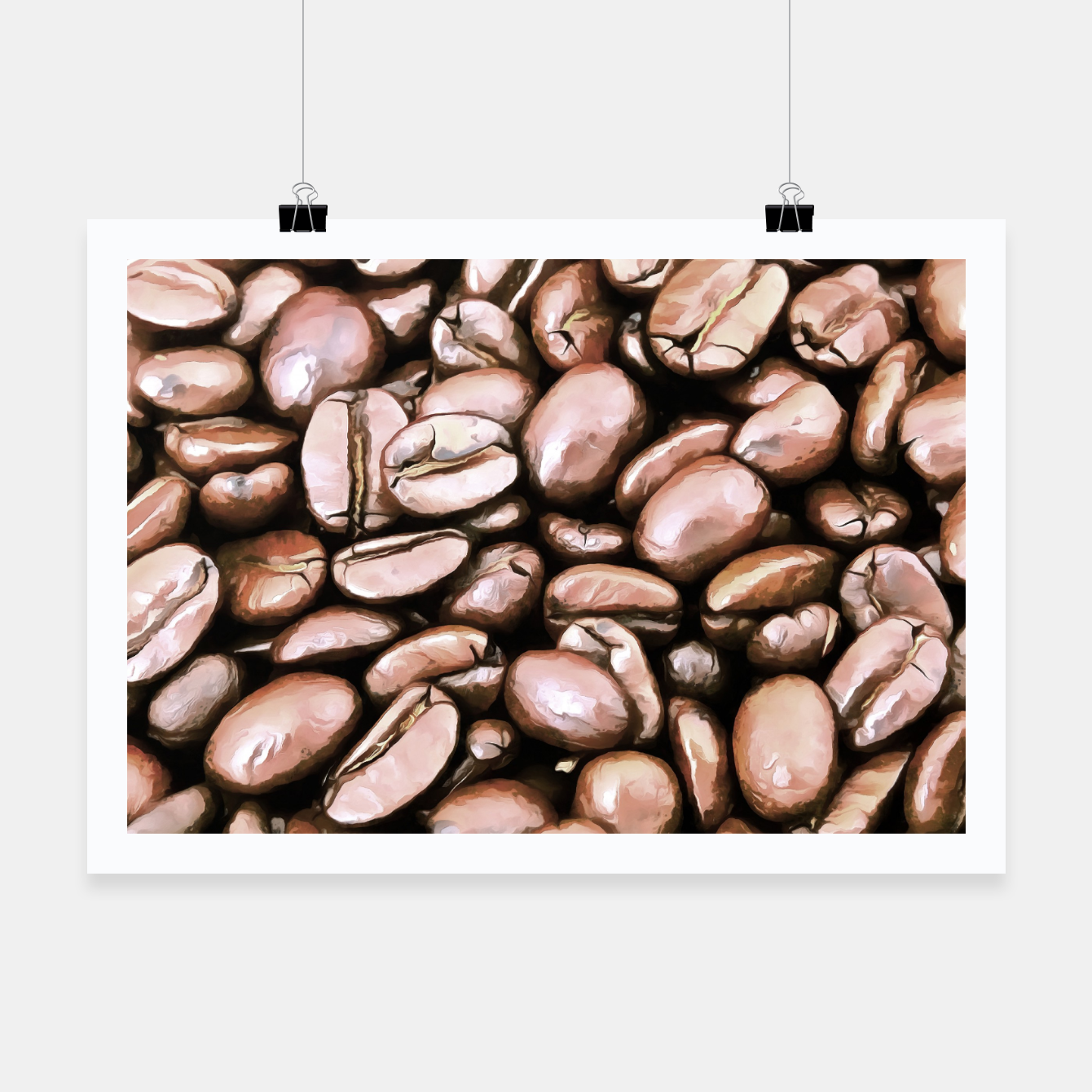 Image de roasted coffee beans texture acrstd Poster - Live Heroes