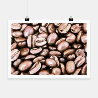 roasted coffee beans texture acrstd Poster miniature
