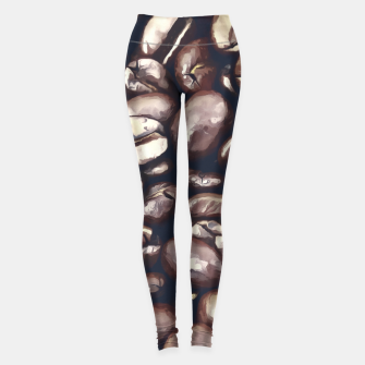 roasted coffee beans texture acrfn Leggings miniature