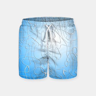 Miniatur Lines in Blue Swim Shorts, Live Heroes