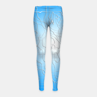 Miniatur Lines in Blue Girl's leggings, Live Heroes