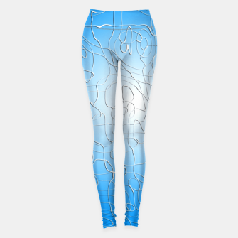 Miniatur Lines in Blue Leggings, Live Heroes