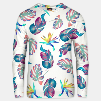 Thumbnail image of Tropical Pattern #4 Unisex sweater, Live Heroes