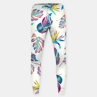 Thumbnail image of Tropical Pattern #4 Sweatpants, Live Heroes