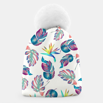 Thumbnail image of Tropical Pattern #4 Beanie, Live Heroes