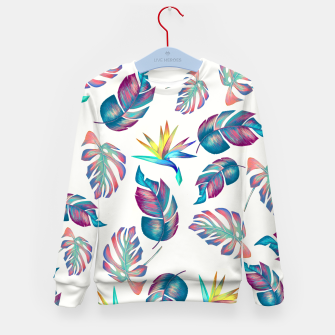 Thumbnail image of Tropical Pattern #4 Kid's sweater, Live Heroes