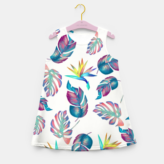 Thumbnail image of Tropical Pattern #4 Girl's summer dress, Live Heroes