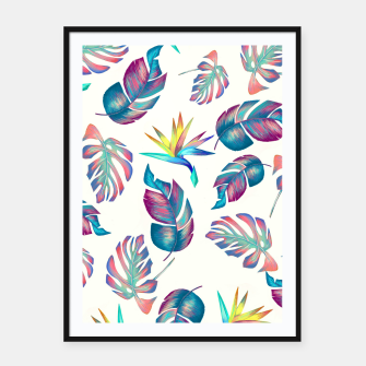 Thumbnail image of Tropical Pattern #4 Framed poster, Live Heroes