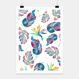 Thumbnail image of Tropical Pattern #4 Poster, Live Heroes