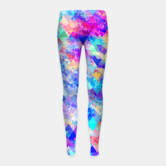 Vivid Pattern I Girl's leggings obraz miniatury
