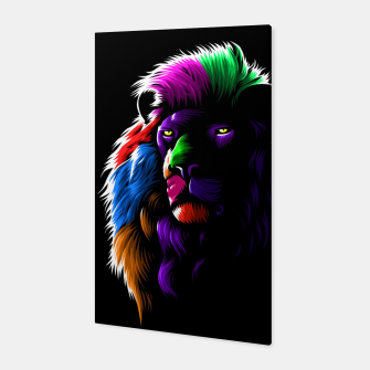 Colors Lion Canvas Bild der Miniatur