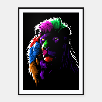 Colors Lion Cartel con marco Bild der Miniatur