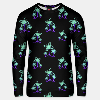 Thumbnail image of Dark Floral Print Pattern Unisex sweater, Live Heroes