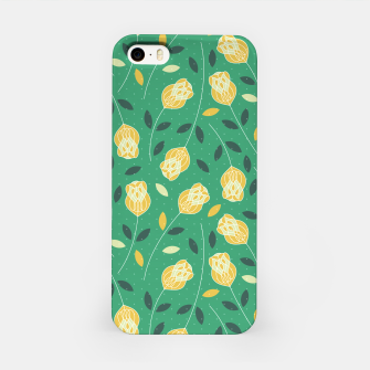 Miniature de image de Flowers | Yellow And Green Pattern Design iPhone Case, Live Heroes