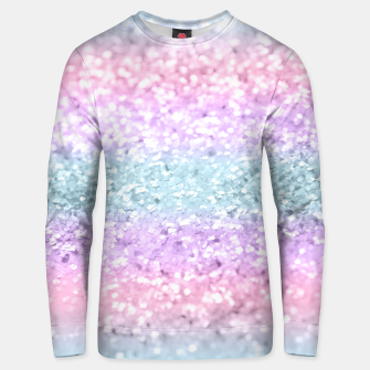 Unicorn Girls Glitter #11 #shiny #pastel #decor #art Unisex sweatshirt obraz miniatury