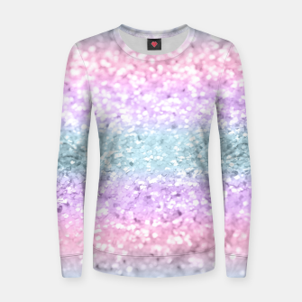 Unicorn Girls Glitter #11 #shiny #pastel #decor #art Frauen sweatshirt obraz miniatury