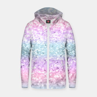 Thumbnail image of Unicorn Girls Glitter #11 #shiny #pastel #decor #art Reißverschluss kapuzenpullover, Live Heroes