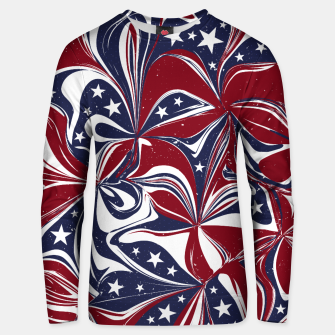 Abstract Flowers With Stars Vector Painting Unisex sweater Bild der Miniatur
