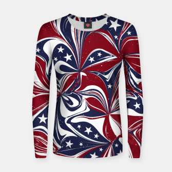 Abstract Flowers With Stars Vector Painting Women sweater Bild der Miniatur