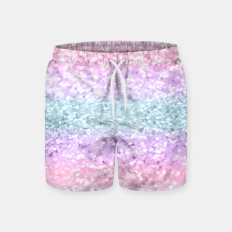 Unicorn Girls Glitter #11 #shiny #pastel #decor #art Badeshorts obraz miniatury