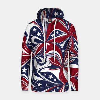 Abstract Flowers With Stars Vector Painting Hoodie Bild der Miniatur