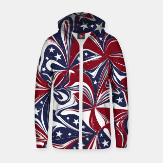 Abstract Flowers With Stars Vector Painting Zip up hoodie Bild der Miniatur