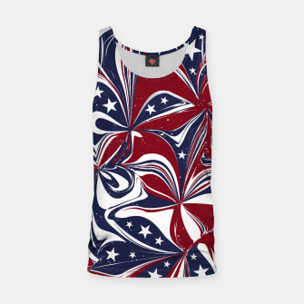 Abstract Flowers With Stars Vector Painting Tank Top Bild der Miniatur