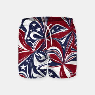 Abstract Flowers With Stars Vector Painting Swim Shorts Bild der Miniatur