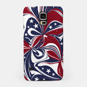 Abstract Flowers With Stars Vector Painting Samsung Case Bild der Miniatur