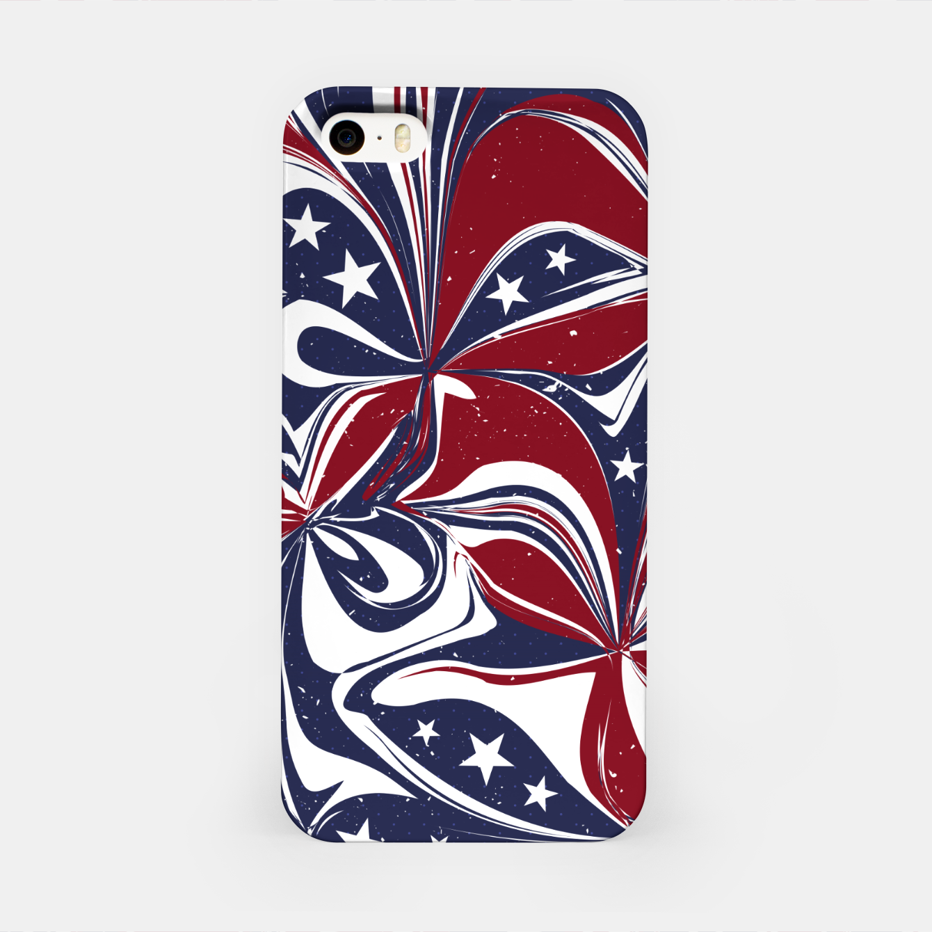 Foto Abstract Flowers With Stars Vector Painting iPhone Case - Live Heroes