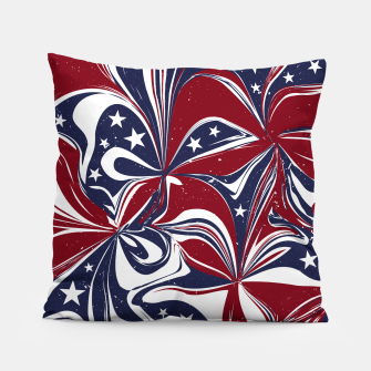 Abstract Flowers With Stars Vector Painting Pillow Bild der Miniatur