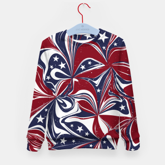Abstract Flowers With Stars Vector Painting Kid's sweater Bild der Miniatur